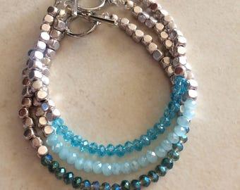 Tic Tac Toe blue bracelets
