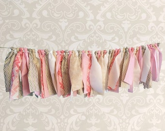 Pink and Gold Fabric Banner - High Chair Banner