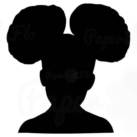girl afro puffs svg silhouette clip art black girl afro puff rh etsy com free black natural hair clipart free black natural hair clipart