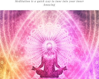 Introduction to meditation, ebook , how to , pdf, instant download , Mindfulness