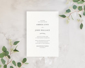 Wedding Invitation Sample - The Amber Suite