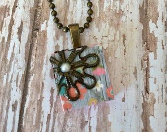 Scrabble Tile Necklace