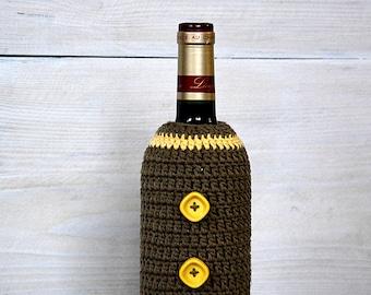 Halloween Bottle Cozy, Handmade Wine Bottle Cover, Wine bottle sleeve, christmas gift, Wine Cover, Wine Bottle Cozy, Hostess Gift