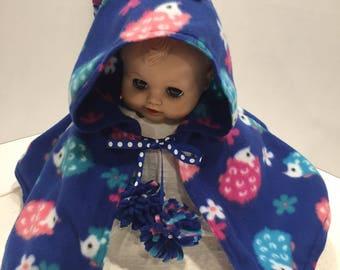 Blue Hedgehog Infant Capelet