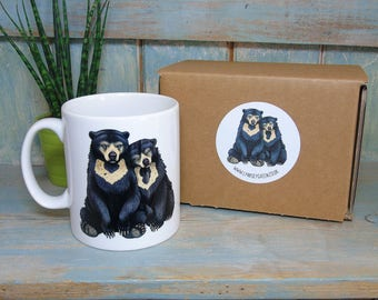 Sun Bears Illustration Mug