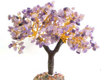 Amethyst Crystal Chips 500 Feng Shui Powerful Tree 100% Genuine Natural from India Chakra Rieki Yoga Healing Crystal Wire Tree Spiritual