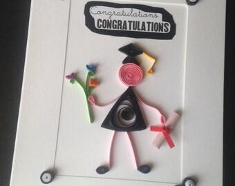Graduation Cards, Graduation Quilling Card, Graduation Congratulations Card, Blank Card