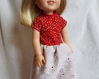 Wellie Wisher red and white floral dress