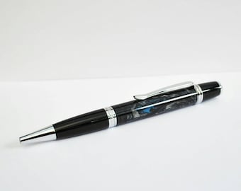 Unique Handcrafted pen - Ballpoint pen made from polished polyester - anniversary gift - retirement gift - teachers gifts - office accessory