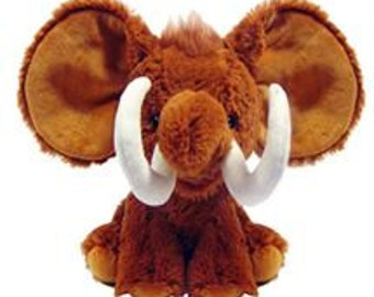 Custom Personalized Stuffed Mr. Woolly Mammoth   (not embroidery)