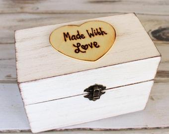 Rustic Recipe Box, Recipe Holder, 4 x 6 Cards, Rustic Kitchen Decor,