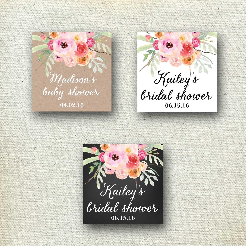 24 - Bridal Shower Favor Bags - Bouquet Design | Floral Bridal ...