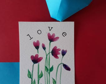Valentine's day floral card