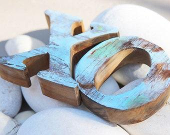 Beach Wedding Decor XO sign Vintage Style Nautical Wooden By SEASTYLE