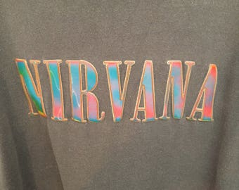 Rare vintage Nirvana t-shirt with lenticular logo XL