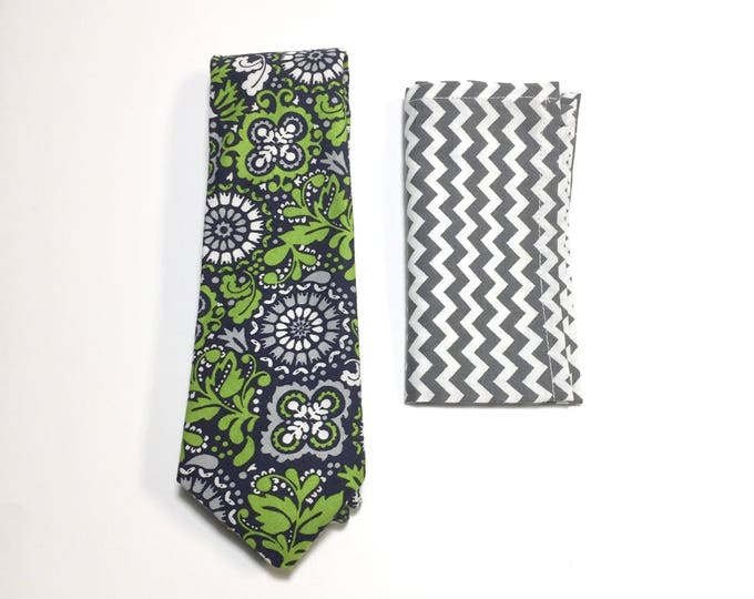 "The ""Wavy Island Green Gravy"" Tie and Square Pack"