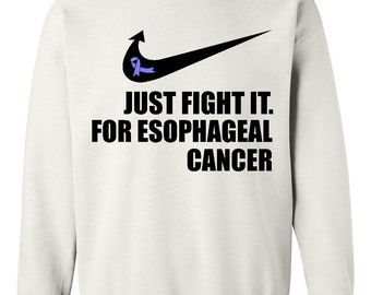 Cancer Awareness Esophageal Cancer Just Fight It  Unisex Crewneck