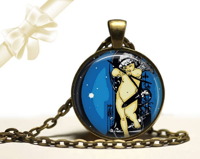 Cupid's Arrow brass Pendant Necklace Free Shipping Gifts for her