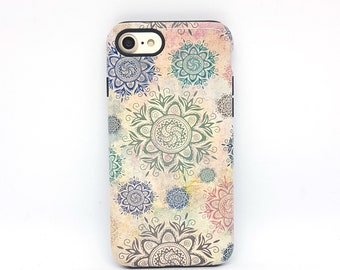 Mandala iPhone 6s case, iPhone 8 case, iPhone 6, iPhone 5s case, iPhone 7 case, Tough iPhone 7 case, iphone case, gift idea - Boho
