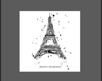 50 x 50 cm fashion-eiffel tower picture frame and glass