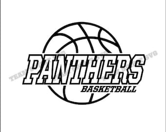 Panthers Basketball Center Download Files - SVG, DXF, EPS, Silhouette Studio, Vinyl and Digital Cut Files -Use with Cricut, Silhouette