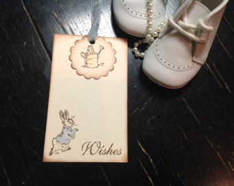 Peter Rabbit Wish tree tags-Peter Rabbit wish tags-Beatrix Potter favors- parenting advice- set of 6