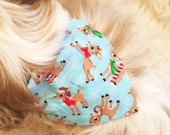 Rudolph The Red Nosed Reindeer Dog Collar Bandana