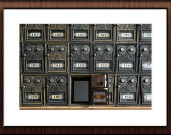Abandoned Hospital Photography Print Fine Art Wall Art Gift - Old Vintage Retro Mailboxes Still Life - Urbex Urban Exploration