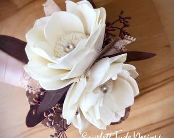 Romantic Corsage, Wedding corsage, Mother's corsage, keepsake corsage, wrist flower, corsage bracelet, flower bracelet, wedding flowers