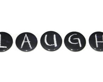 5 ABC Magnets Alphabet Letters Back to School Chalkboard Design - Choose FIVE letters -  Made To Order