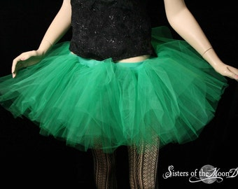 tutu skirt Adult Monster Green extra poofy Fairy Fae Halloween Dance costume -- You Choose Size -- Sisters of the Moon