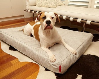 Large Pet Bed With Washable Dog Bed Cover - The Velluto. Handmade dog bed | Large dog bed | Custom dog bed | Dog beds | Pet beds |