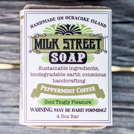 Peppermint Coffee Olive Oil Soap