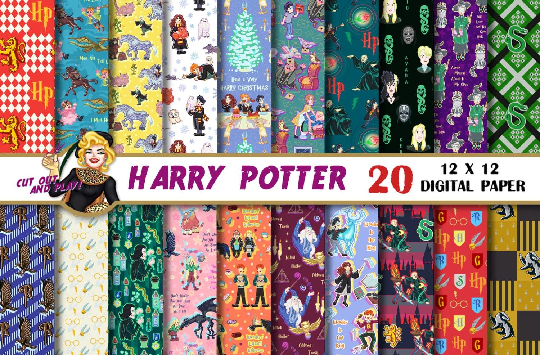 Harry Potter digital paper Harry Potter Scrapbook Slytherin
