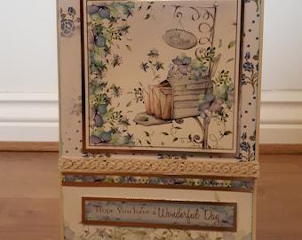 Floral Postbox handmade card