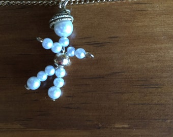 Child's Necklace with faux-pearl person