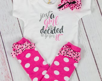 Take home outfit for baby girls, Just a girl who decided to go for it, hot pink