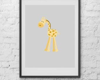 Giraffe Nursery Print, Art Print, Print Art, Digital Print, Poster, Nursery Print, Minimalist Poster, Poster Art, Poster Print, Art Poster