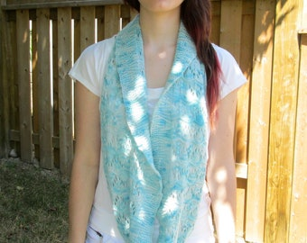 Soft Light Green Cowl, Pale Green Cowl, Soft Light Green Shrug, Pale Green Shrug, Soft Light Green Scarf, Pale Green Scarf