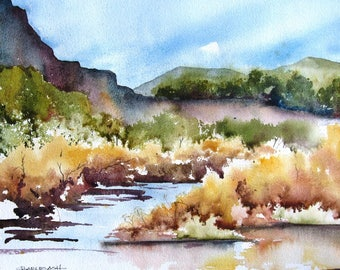 Arroyo - Original Watercolor Painting