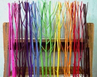 20 Candy Color Wood Diffuser Sticks, 10inch lenght and  5+ mm dia.