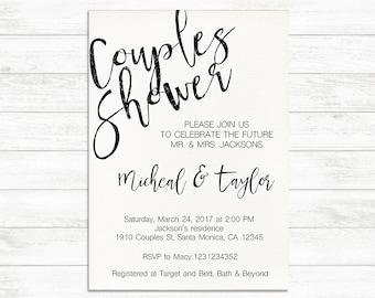 Couples Shower Invitation, Printable Engagement Party Invite, Engagement Couples Invitation, Bridal Shower Invitation, Printable Invitation