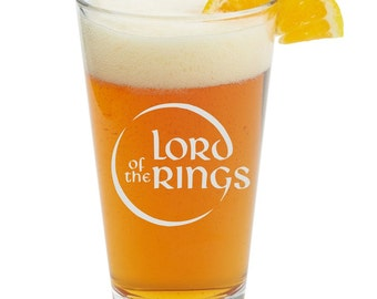 Lord Of The Rings, The Hobbit, Personalized Glass- Themed Pint Glasses-Beer Glass