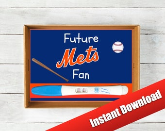 NY Mets Baby Announcement, Instant Download, Baseball Pregnancy Announcement