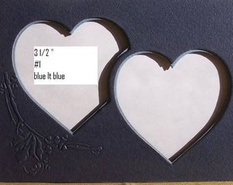 "Vintage Interlocking hearts for 5"" x 7 "" frame Double mat embossed"
