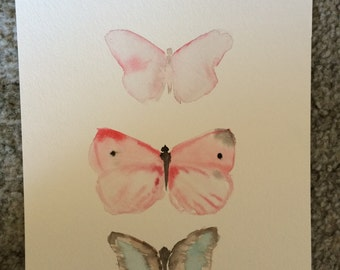 Butterflies Original Artwork Watercolor Painting