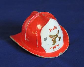 Original Irwin Skiba Fire Helmet FIREFIGHTER BOTTLE OPENER Fireman Memorabilia