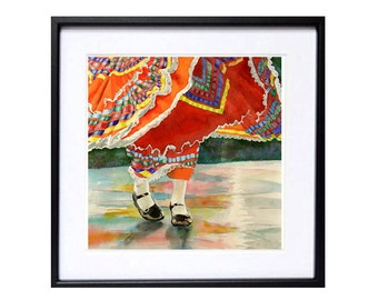 Mexican art prints, Mexican folk art, Fine art prints, Mexican dance, art, Cinco de Mayo, Mexican wall art, decor, Sale