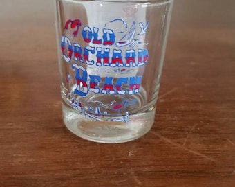 Vtg Maine Shot Glass, Old Orchard Beach, Remedy Prescription