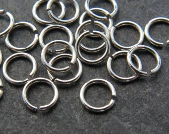 10 pcs Sterling Silver Open Jump Ring 3.5mm ~ 24ga